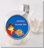Superhero Girl - Personalized Birthday Party Candy Jar