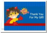 Superhero Girl - Birthday Party Thank You Cards