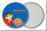 Superhero Boy - Personalized Birthday Party Pocket Mirror Favors