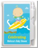 Surf Boy - Baby Shower Personalized Notebook Favor