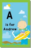 Surf Boy - Personalized Baby Shower Nursery Wall Art