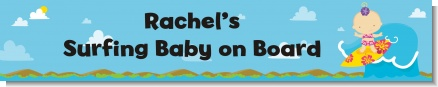 Surf Girl - Personalized Baby Shower Banners