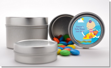 Surf Girl - Custom Baby Shower Favor Tins