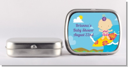 Surf Girl - Personalized Baby Shower Mint Tins