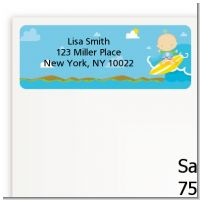 Surf Boy - Baby Shower Return Address Labels