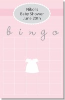 Sweet Little Lady - Baby Shower Gift Bingo Game Card