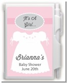 Sweet Little Lady - Baby Shower Personalized Notebook Favor