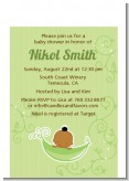 Sweet Pea African American Boy - Baby Shower Petite Invitations