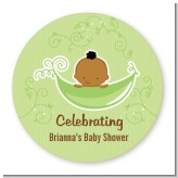 Sweet Pea African American Boy - Personalized Baby Shower Table Confetti