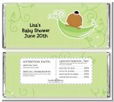 Sweet Pea African American Girl - Personalized Baby Shower Candy Bar Wrappers