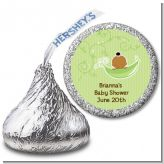 Sweet Pea African American Girl - Hershey Kiss Baby Shower Sticker Labels