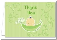 Sweet Pea Asian Boy - Baby Shower Thank You Cards