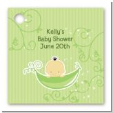 Sweet Pea Asian Boy - Personalized Baby Shower Card Stock Favor Tags
