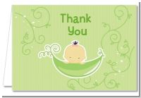 Sweet Pea Asian Girl - Baby Shower Thank You Cards