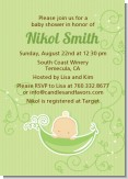 Sweet Pea Caucasian Boy - Baby Shower Invitations