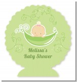 Sweet Pea Caucasian Girl - Personalized Baby Shower Centerpiece Stand