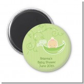 Sweet Pea Caucasian Girl - Personalized Baby Shower Magnet Favors