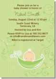 Sweet Pea Caucasian Girl - Baby Shower Invitations