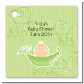 Sweet Pea Caucasian Girl - Personalized Baby Shower Card Stock Favor Tags
