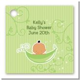 Sweet Pea Hispanic Girl - Personalized Baby Shower Card Stock Favor Tags