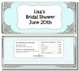 Light Blue & Grey - Personalized Bridal Shower Candy Bar Wrappers thumbnail