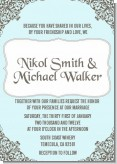 Light Blue & Grey - Bridal Shower Invitations
