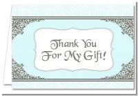 Light Blue & Grey - Bridal Shower Thank You Cards