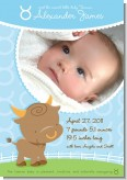 Bull | Taurus Horoscope - Birth Announcement Photo Card