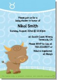 Bull | Taurus Horoscope - Baby Shower Invitations