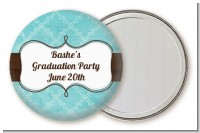 Teal & Brown - Personalized Graduation Party Pocket Mirror Favors