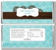 Teal & Brown - Personalized Graduation Party Candy Bar Wrappers thumbnail
