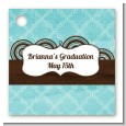 Teal & Brown - Personalized Graduation Party Card Stock Favor Tags thumbnail