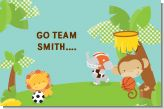 Team Safari - Personalized Baby Shower Placemats
