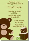 Teddy Bear - Birthday Party Invitations