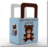 Teddy Bear Blue - Personalized Baby Shower Favor Boxes