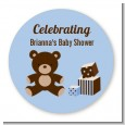 Teddy Bear Blue - Personalized Baby Shower Table Confetti thumbnail