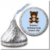 Teddy Bear - Hershey Kiss Birthday Party Sticker Labels