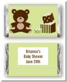Teddy Bear Neutral - Personalized Baby Shower Mini Candy Bar Wrappers