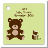 Teddy Bear Neutral - Personalized Baby Shower Card Stock Favor Tags
