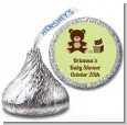 Teddy Bear Neutral - Hershey Kiss Baby Shower Sticker Labels thumbnail