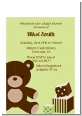 Teddy Bear Neutral - Baby Shower Petite Invitations