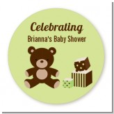 Teddy Bear Neutral - Personalized Baby Shower Table Confetti