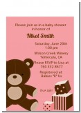 Teddy Bear Pink - Baby Shower Petite Invitations