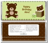 Teddy Bear - Personalized Birthday Party Candy Bar Wrappers