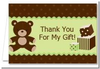 Teddy Bear - Birthday Party Thank You Cards
