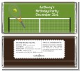 Tennis - Personalized Birthday Party Candy Bar Wrappers thumbnail