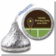 Tennis - Hershey Kiss Birthday Party Sticker Labels thumbnail
