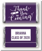 Thank You For Coming - Personalized Graduation Party Mini Candy Bar Wrappers