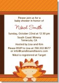 Little Turkey Girl - Baby Shower Invitations