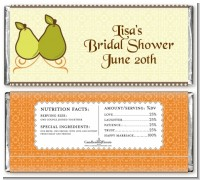 The Perfect Pair - Personalized Bridal Shower Candy Bar Wrappers
